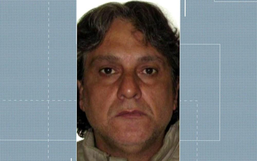 Paulo Cupertino Matias é procurado pela polícia acusado de matar ator Rafael Miguel, o pai e a mãe dele — Foto: TV Globo/Reprodução A foto do ass