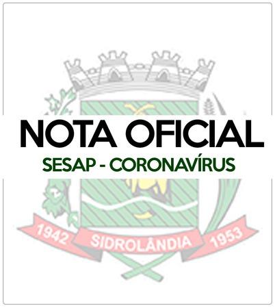 A Secretaria Municipal de Saúde comunica a confirmação de mais 4 casos para Coronavírus no município de Sidrolândia