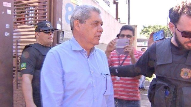 Ex-governador de MS Ex-governador de MS André Puccinelli em prisão anterior (Foto: Reprodução/TV Morena - arquivo)André Puccinelli em prisão anterior (Foto: Reprodução/TV Morena - arquivo)