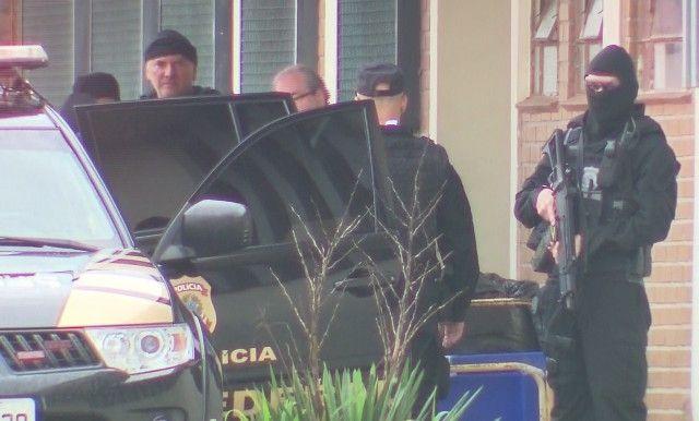 Eduardo Cunha deixa Complexo Médico-Penal, em Pinhais (Foto: Reprodução/RPC)