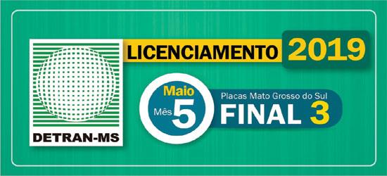 Prazo para pagar licenciamento de veículos com placas final 3 termina nesta sexta